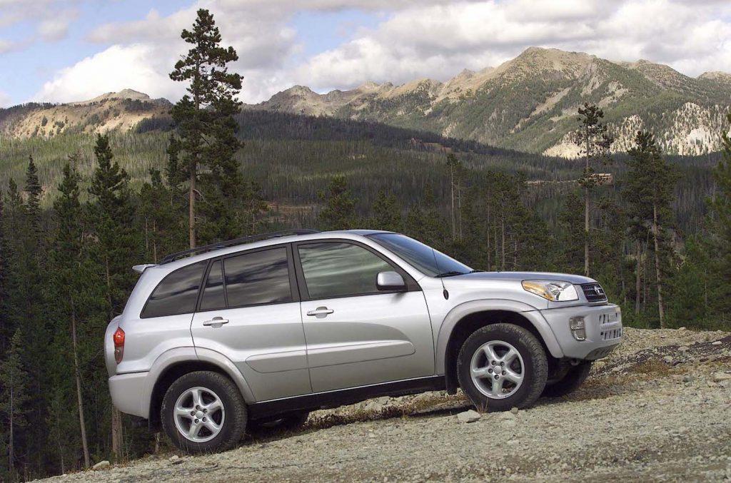 A silver 2003 Toyota RAV4