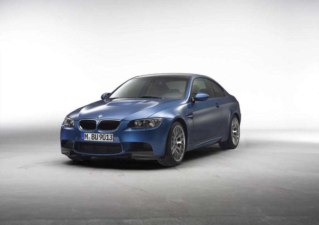 A blue 2011 BMW M3 Competition Coupe