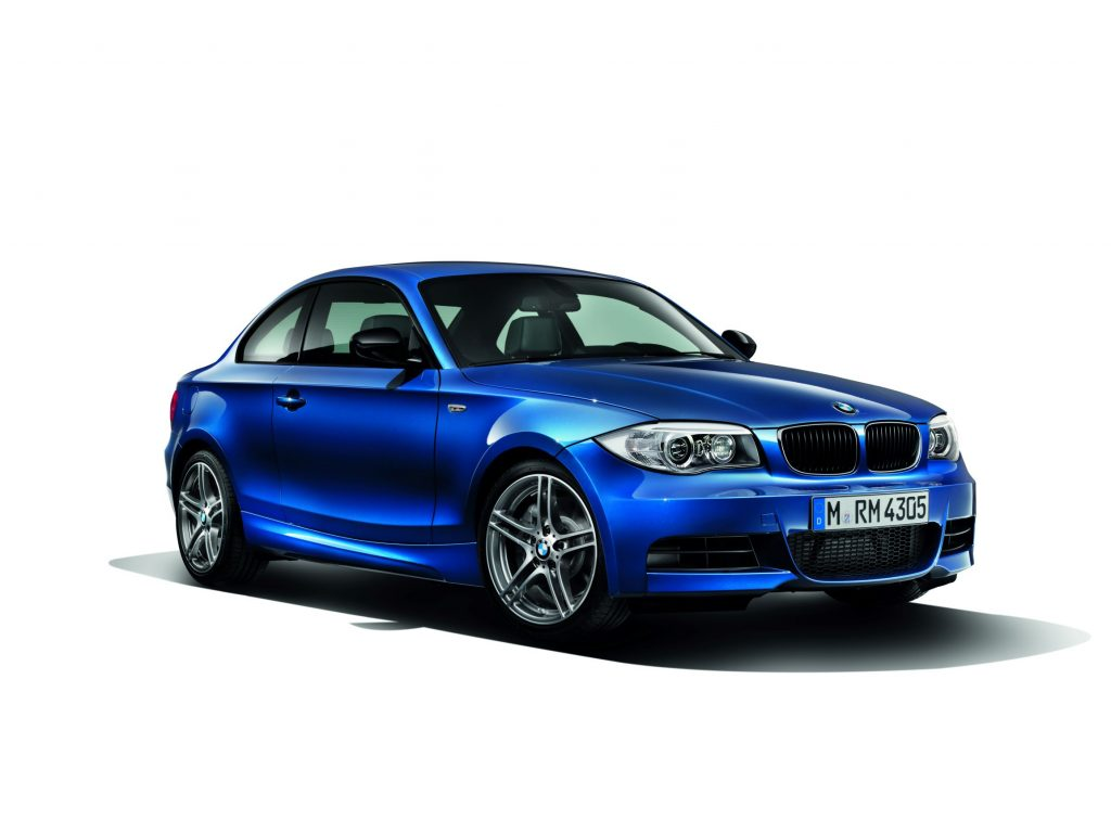 A blue 2013 BMW 135is Coupe