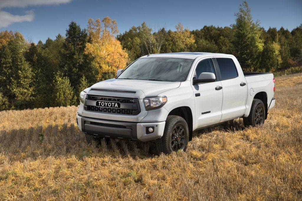 A white 2017 Toyota Tundra TRD Pro