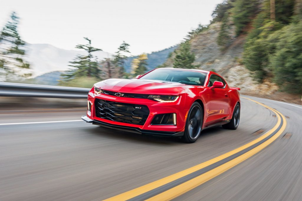 A red 2018 Chevy Camaro, one of the best used sports cars for summer