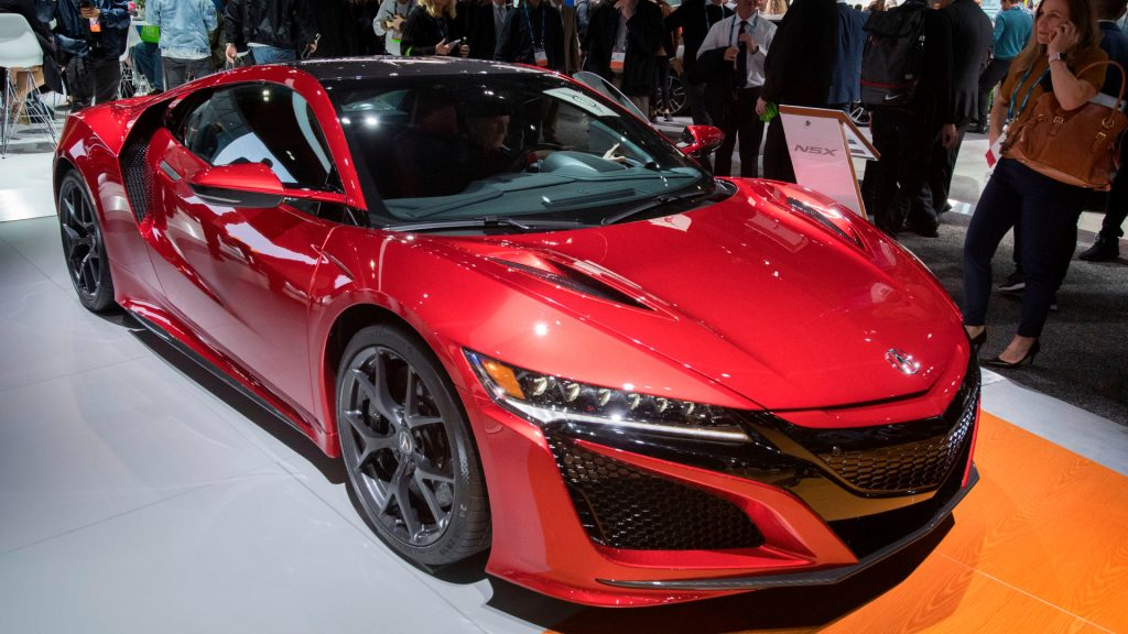 A red 2019 Acura NSX.