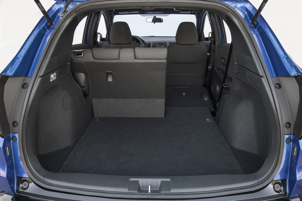 The split rear seats of the HR-V