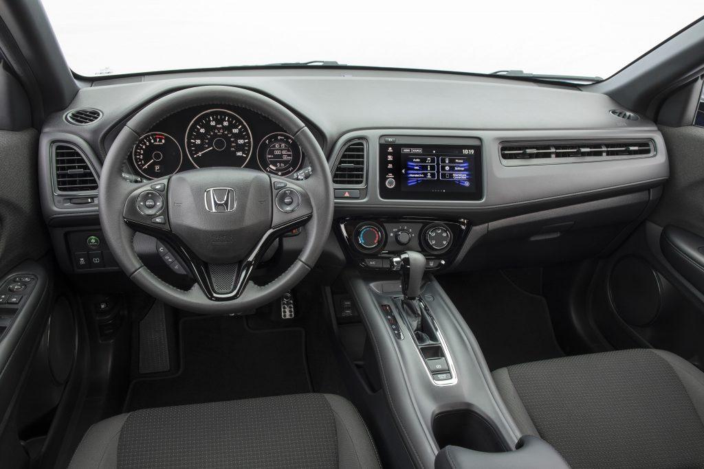 The interior of the Honda HR-V