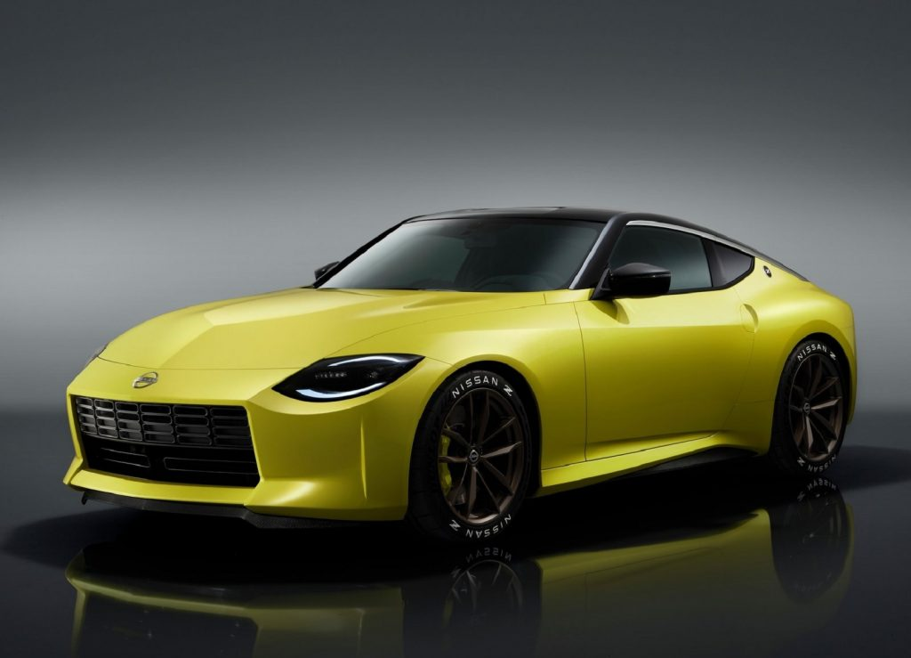 The yellow 2020 Nissan Z Proto Concept