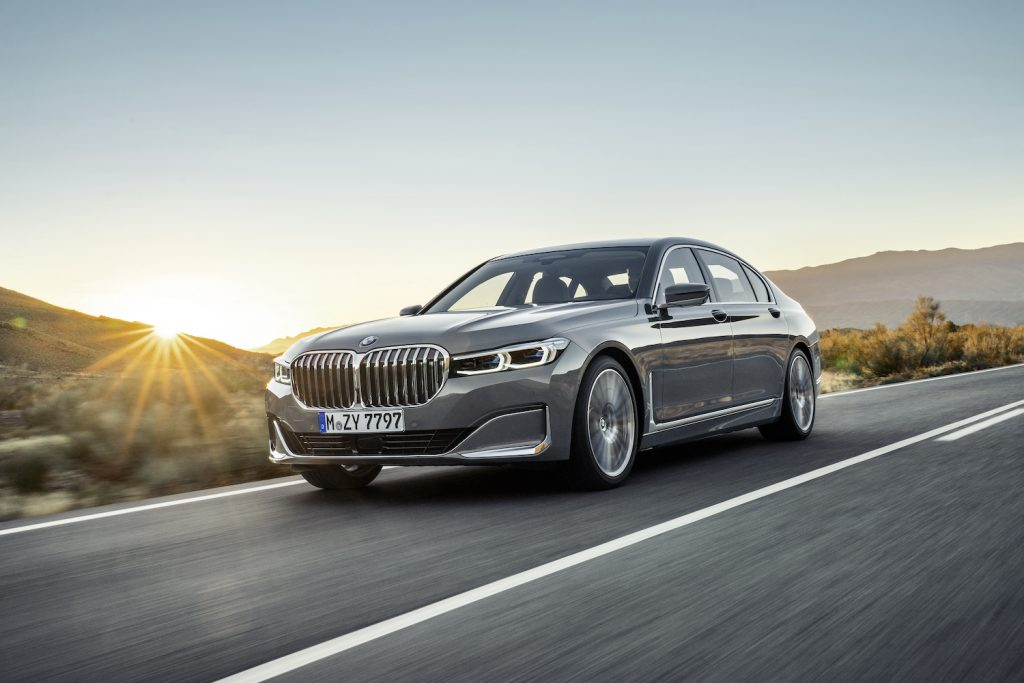 A grey 2021 BMW 7 Series, one of the best luxury cars according to Consumer Reports