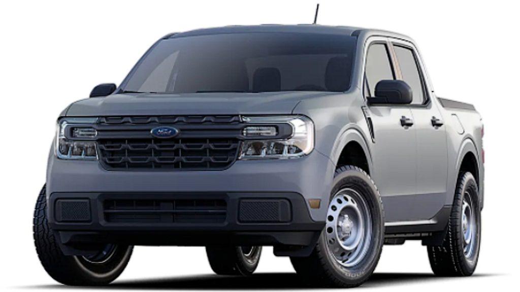 A 2021 Ford Maverick small hybrid pickup truck.