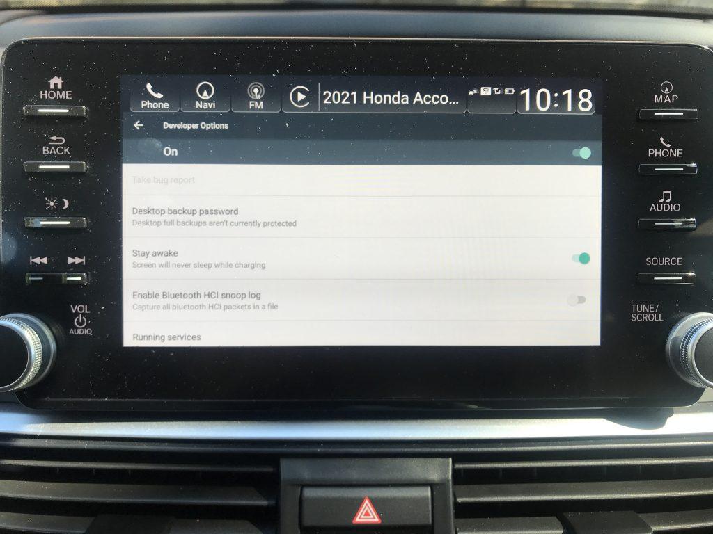 2021 Honda Accord Developer Mode