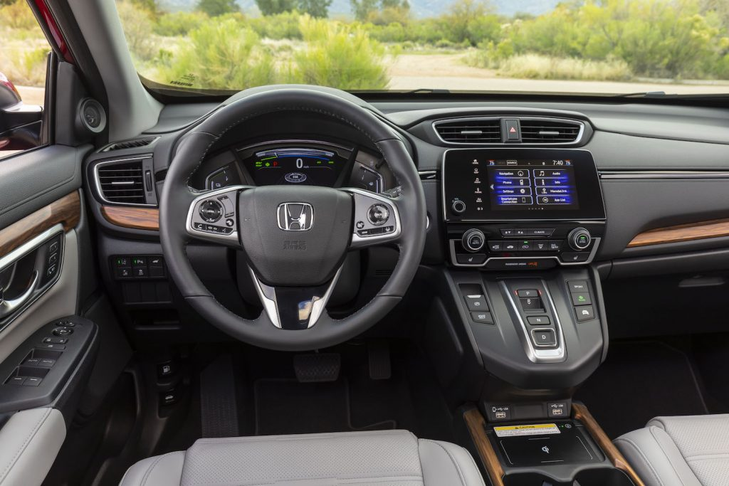 The interior of the 2021 Honda CR-V Hybrid