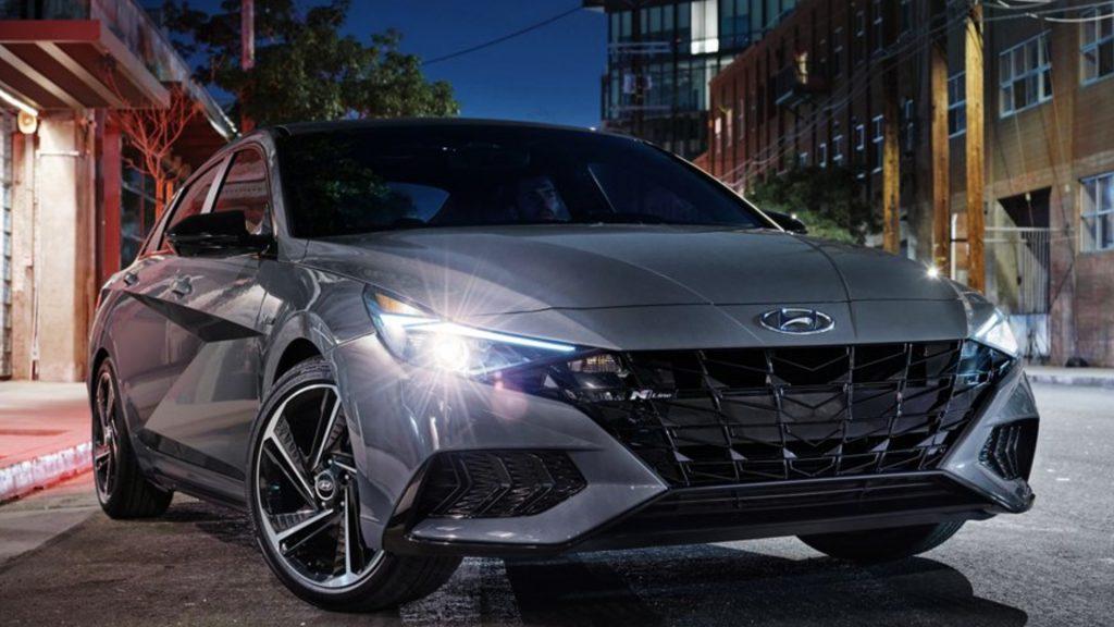 The 2021 Hyundai Elantra.