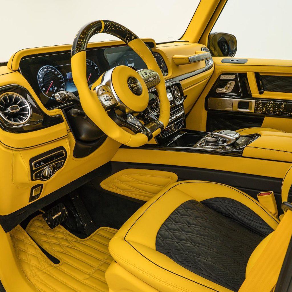 2021 Mansory Gronos Mercedes G-Wagen yellow interior