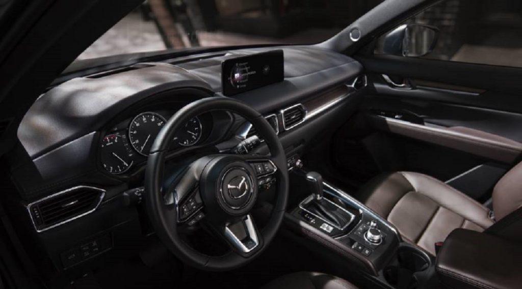 The interior of a 2021 Mazda CX-5.