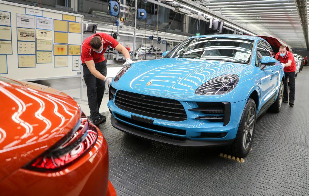 A Porsche Macan on the line