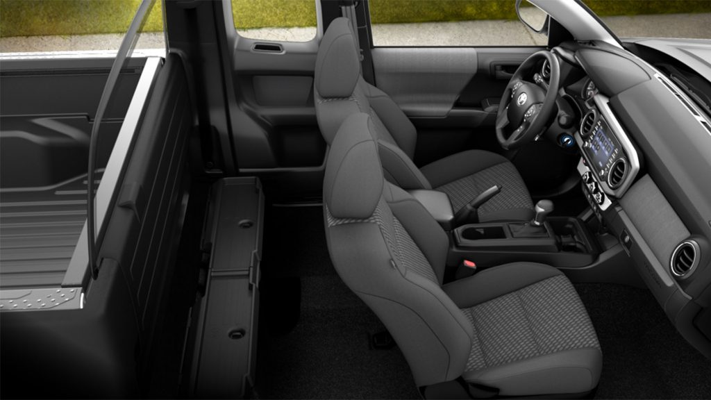 2021 base Toyota Tacoma pickup interior