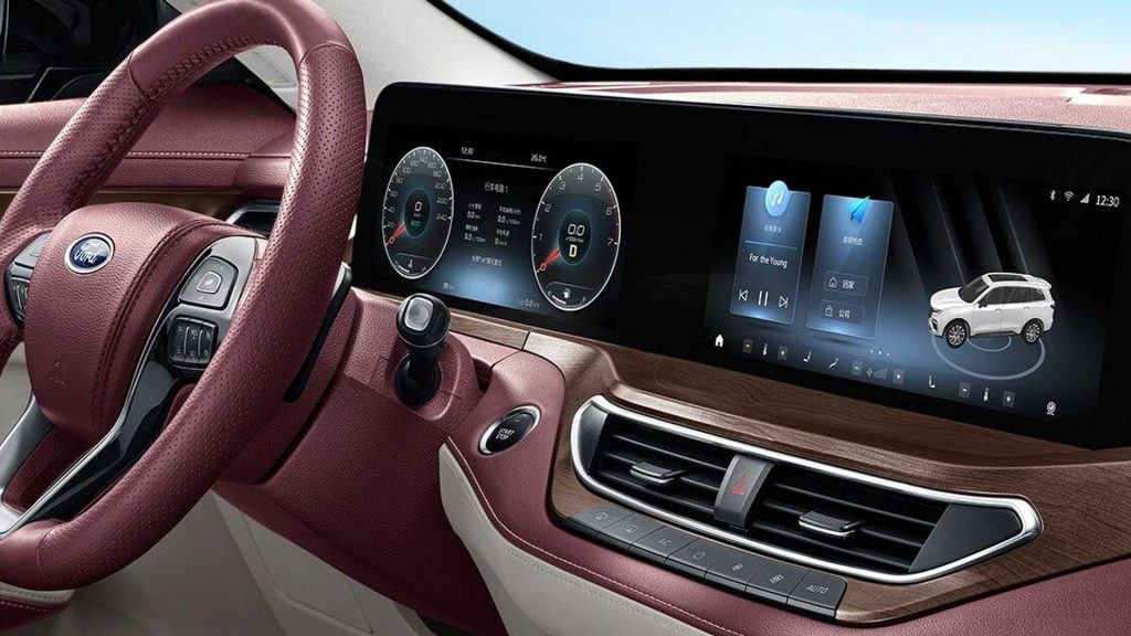 2022 Ford Equator interior with pops of rose color