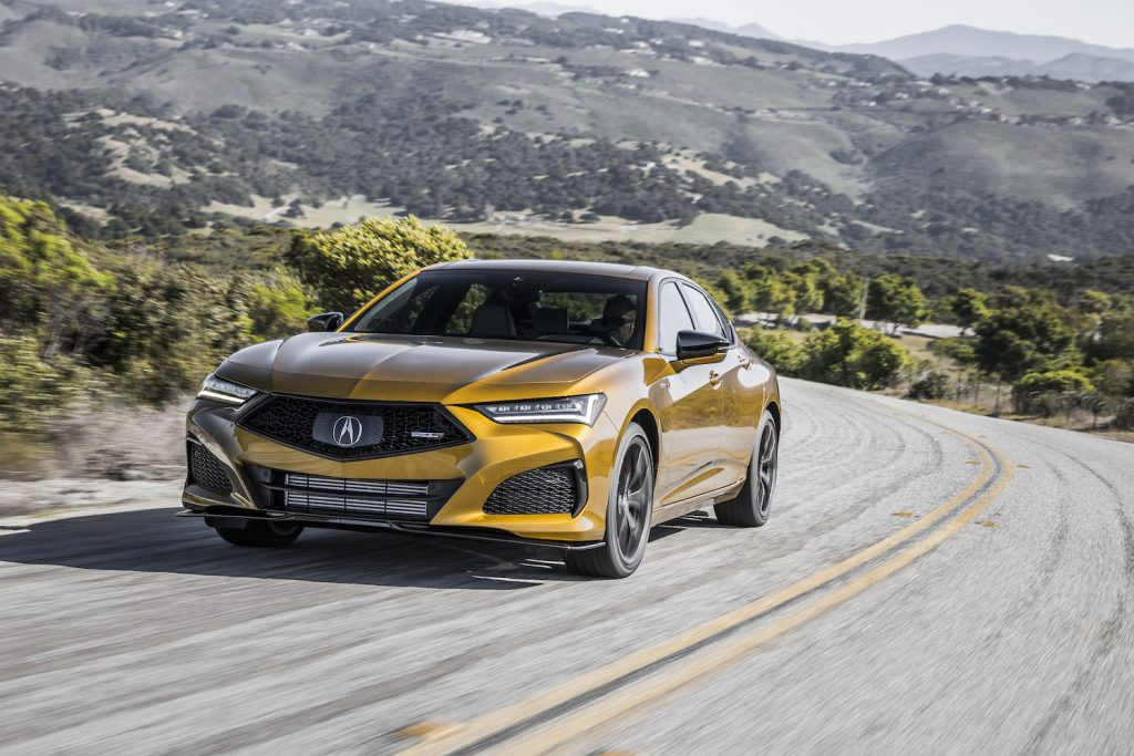 A 2021 TLX TYPE S driving