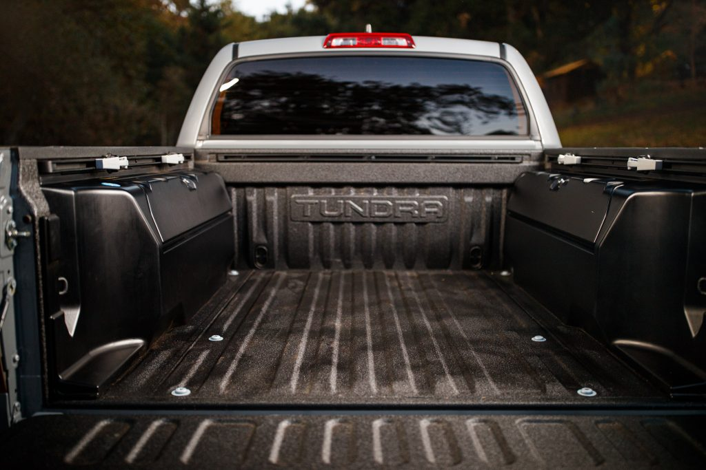 The bed of the Toyota Tundra