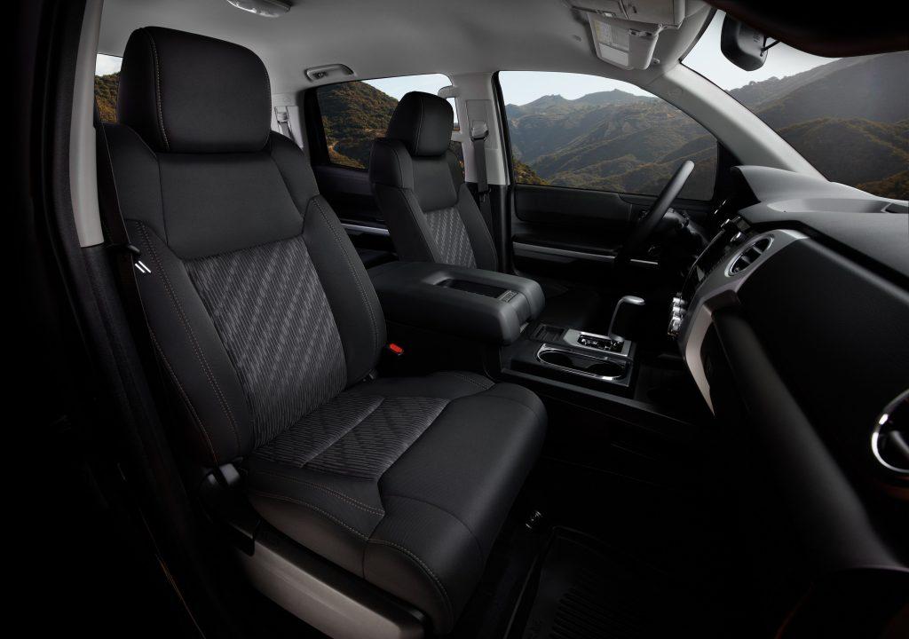 The interior of the Toyota Tundra