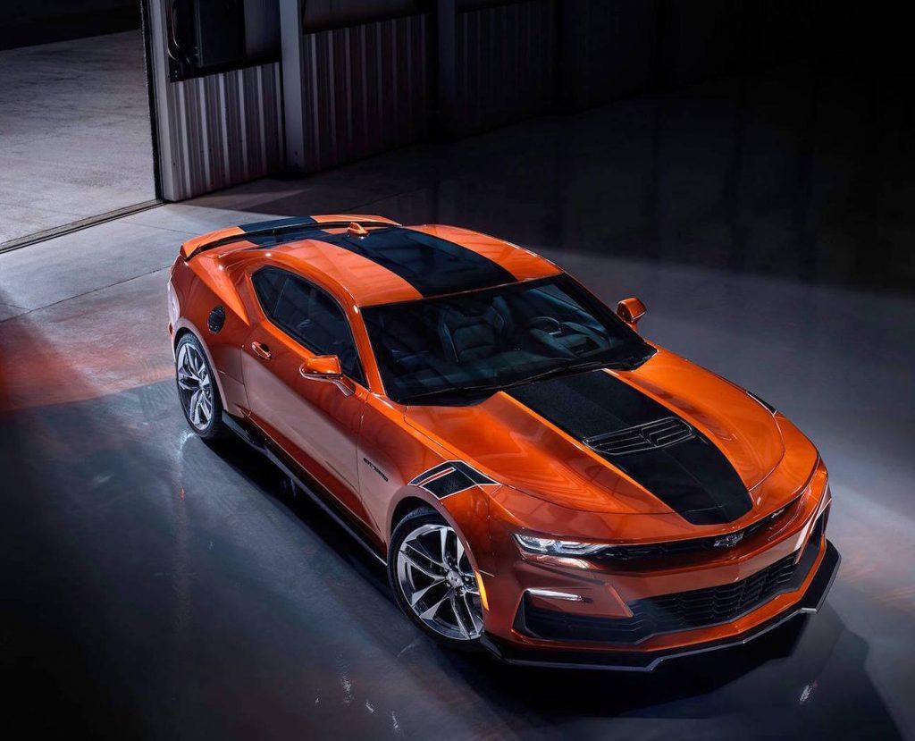 2022 Chevy Camaro in new Vivid Orange color