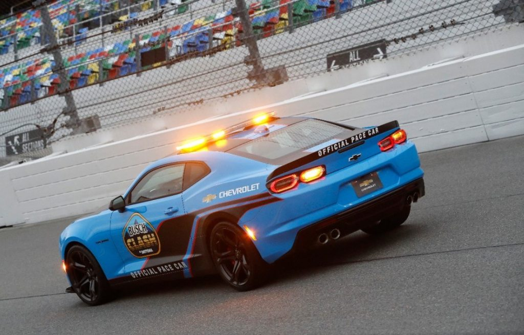 2022 Chevy Camaro pace car in blue