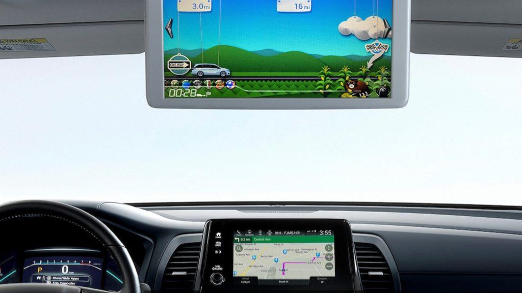 Interior of the 2022 Honda Odyssey minivan.