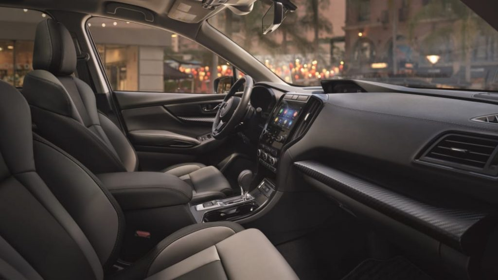 The 2022 Subaru Ascent Onyx Edition Interior from the passenger side