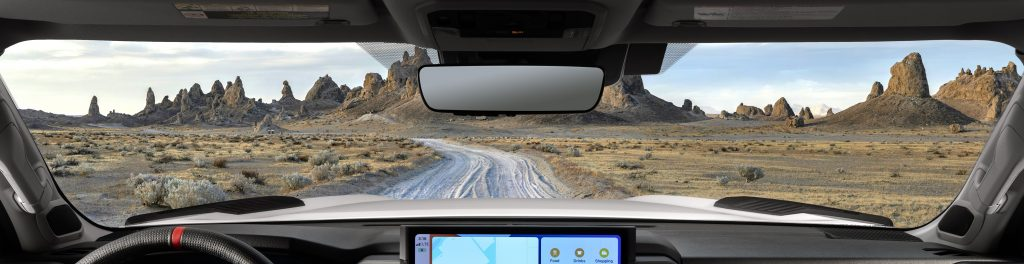 The dash of the new 2022 Toyota Tundra with its new infotainment system