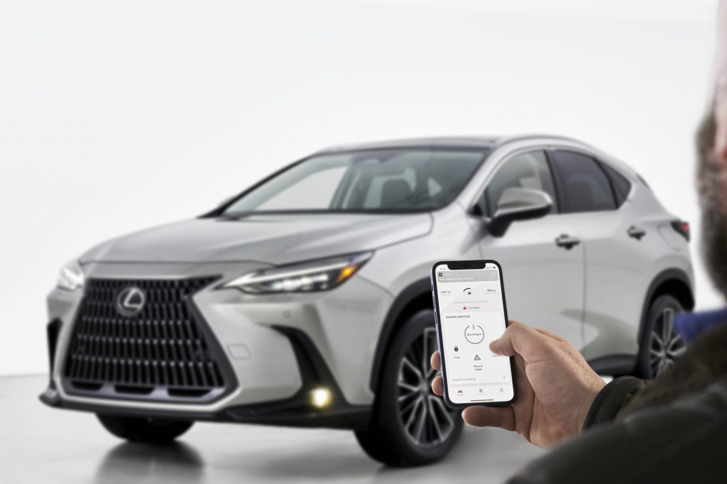 Lexus' infotainment-compatible smartphone app used to open the doors on an NX model