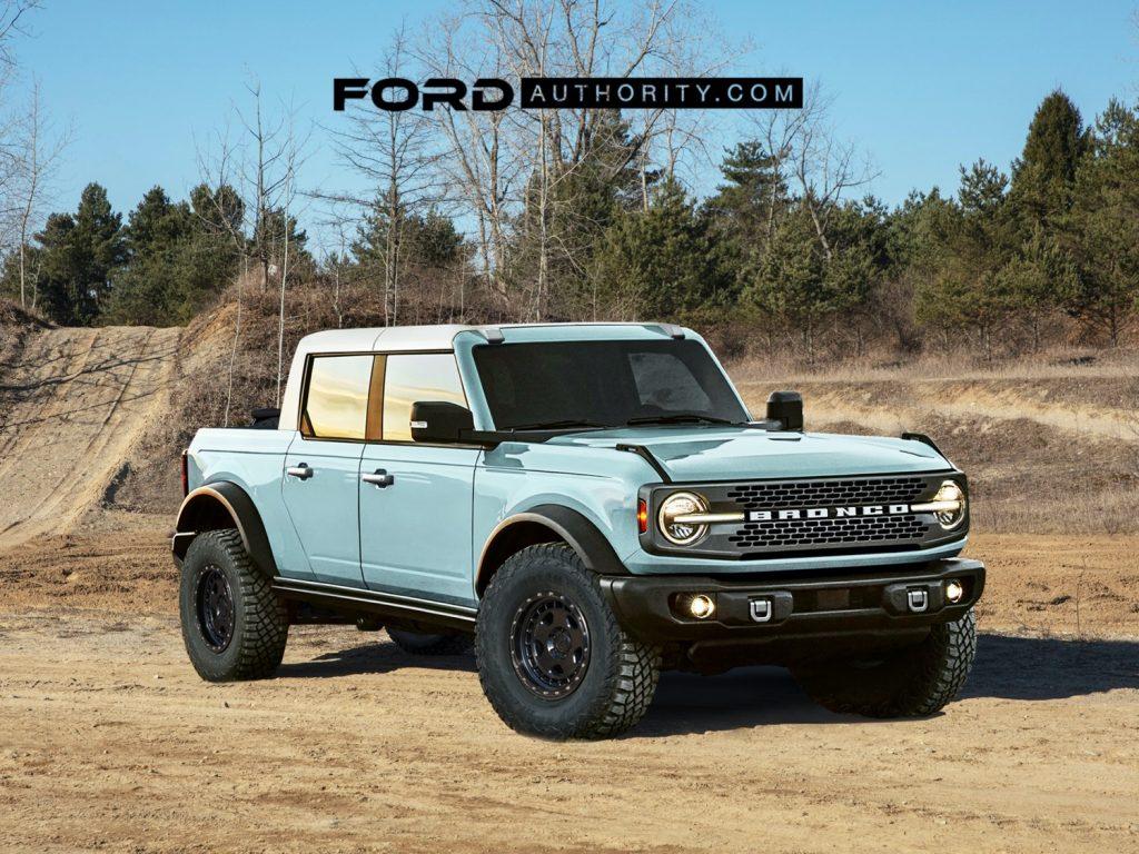 2025 Ford Bronco Pickup rendering