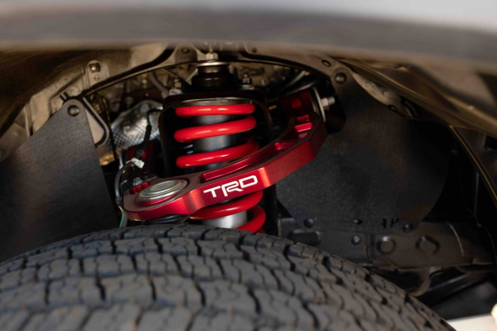 trd control arm and red fox shocks