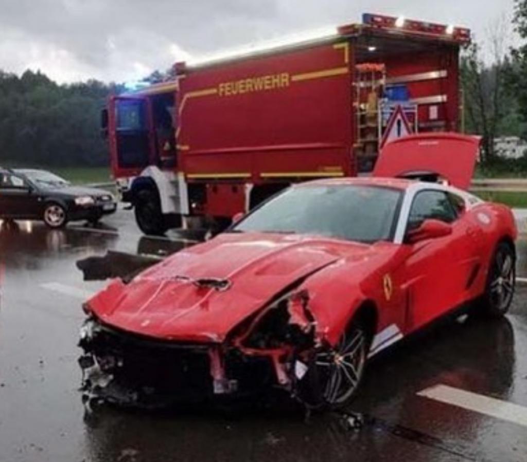 599 GTB 60F1 Alonso crash