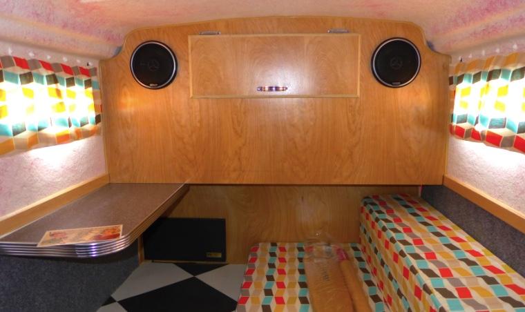 American Dream travel trailer with retro interior details