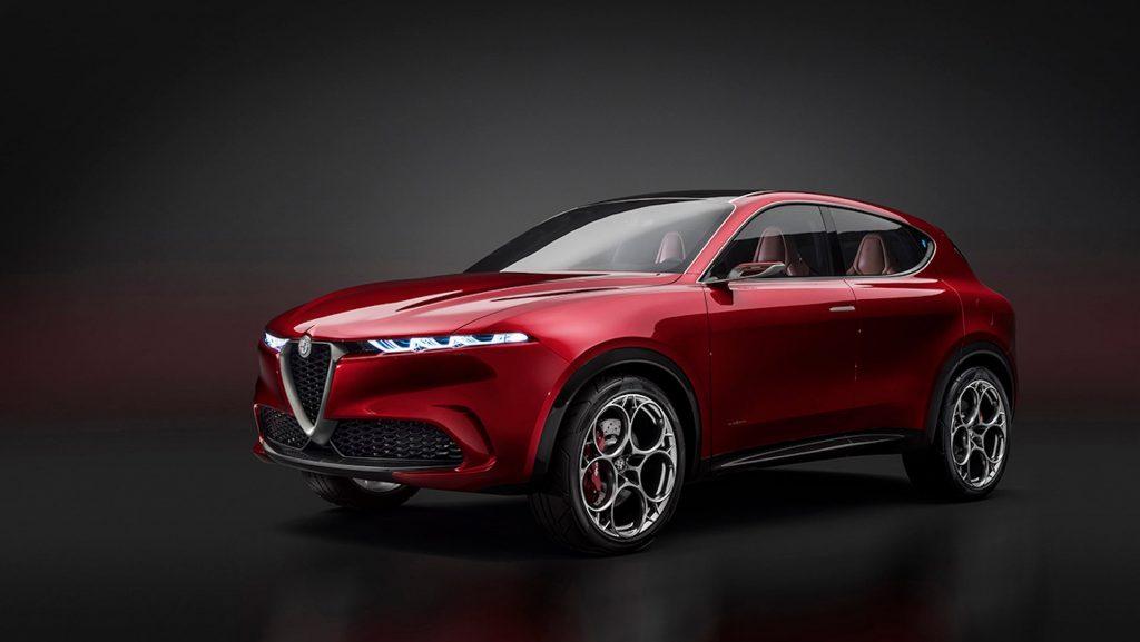 Alfa Romeo Tonale crossover in red