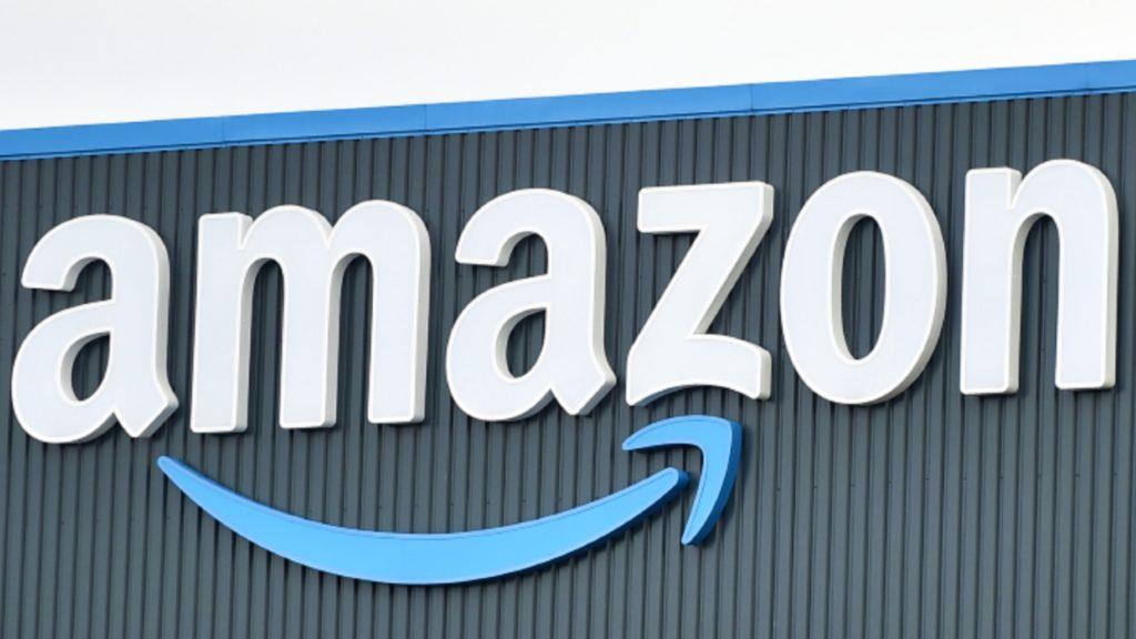An Amazon warehouse in England.