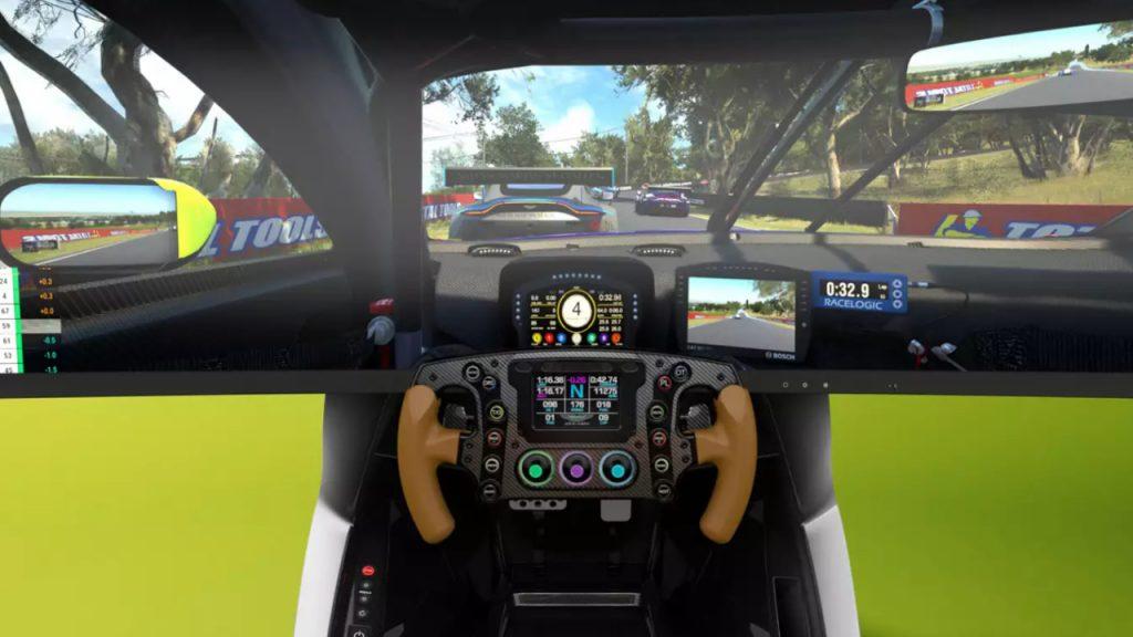 The AMR-C01 Aston Martin racing simulator.