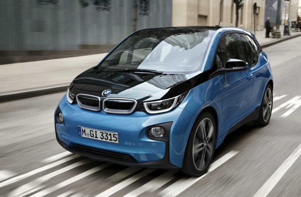 2020 BMW i3 in blue and black
