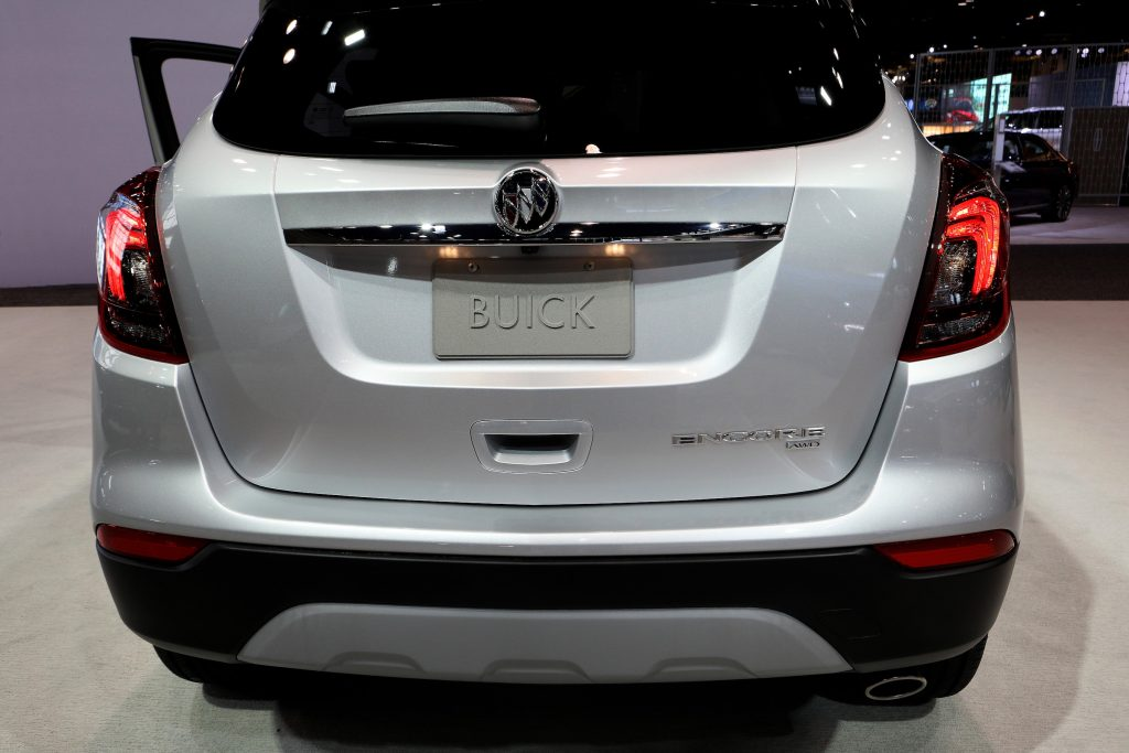 Silver 2020 Buick Encore is on display at the 112th Annual Chicago Auto Show