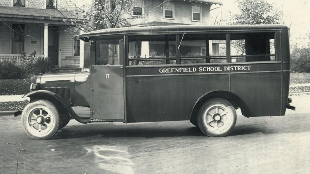 An old photo of a C.R. Patterson and Sons bus