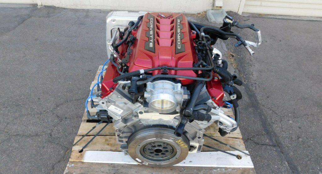 disembodied C8 Corvette engine