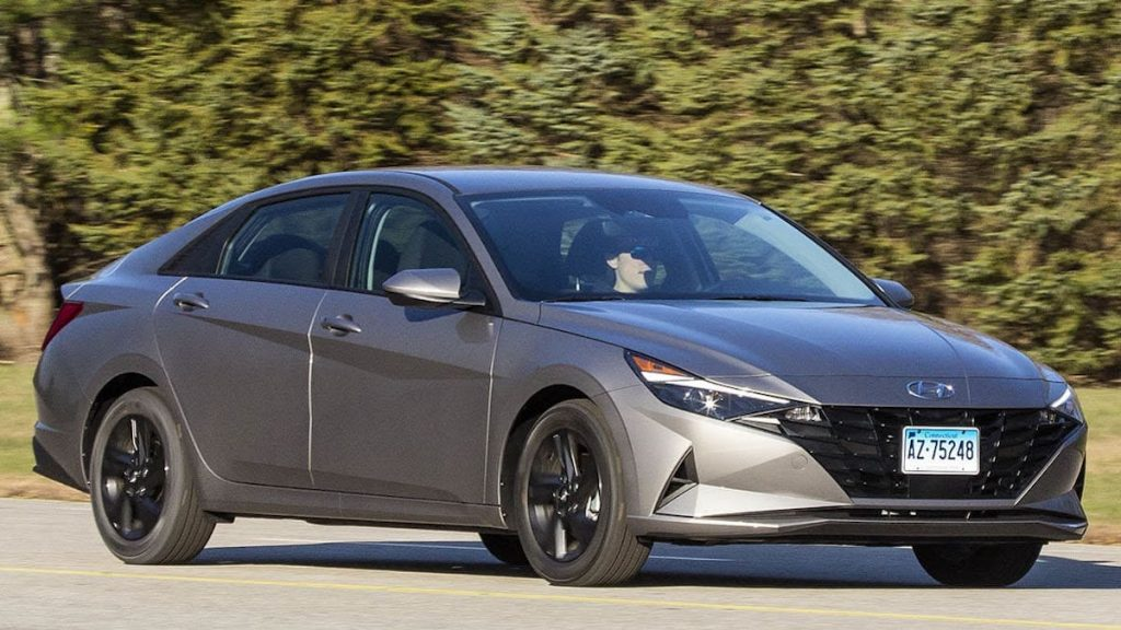 2021 Hyundai Elantra being tested by Consumer reports