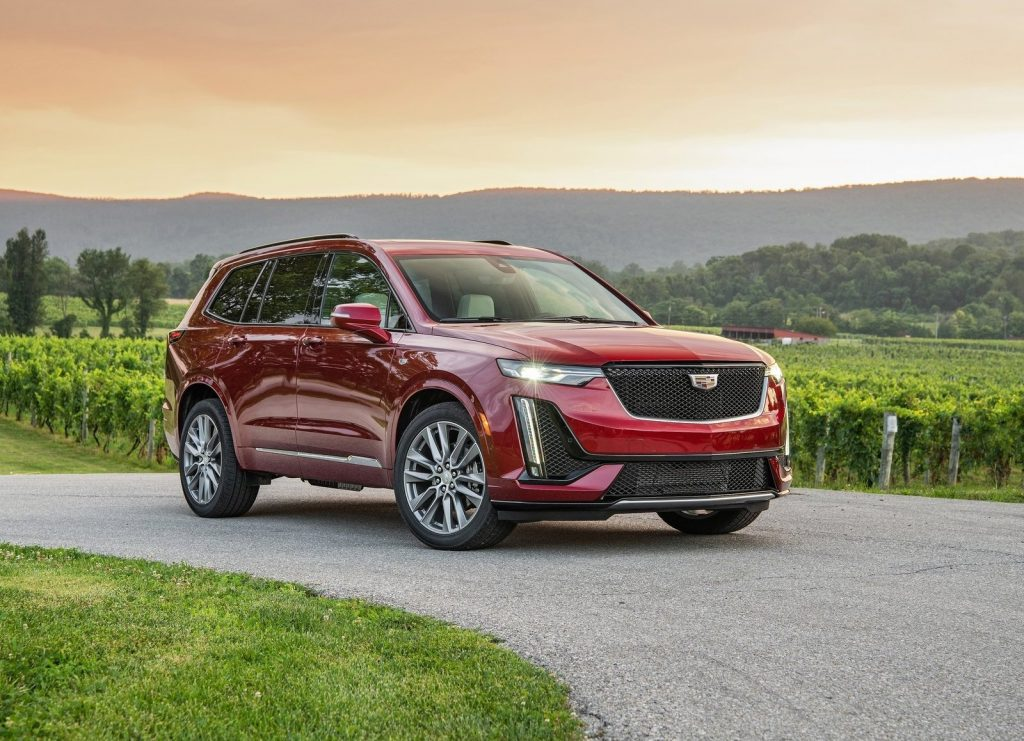 An image of a Cadillac XT6, one of the most discounted new SUVs according to consumer reports.