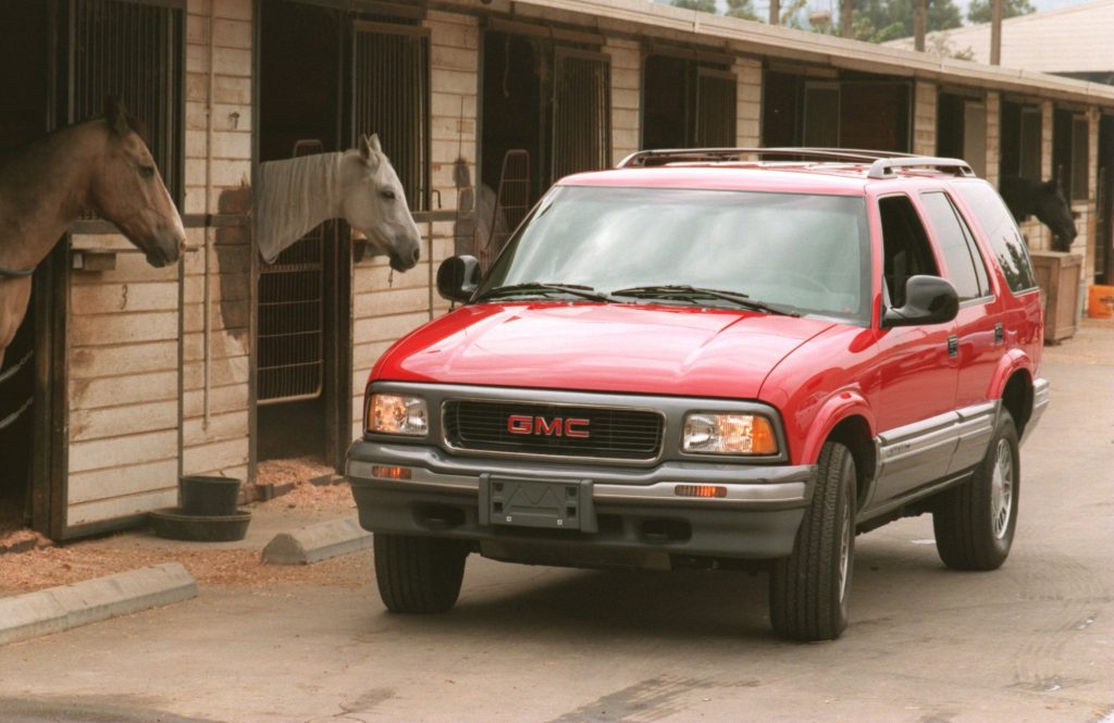 A GMC Jimmy is a car name shared with humans