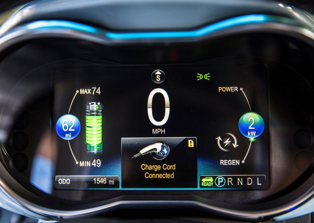2014 Chevy Spark instrument panel