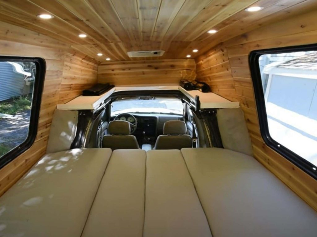 Interior of the Toyota mashup camper