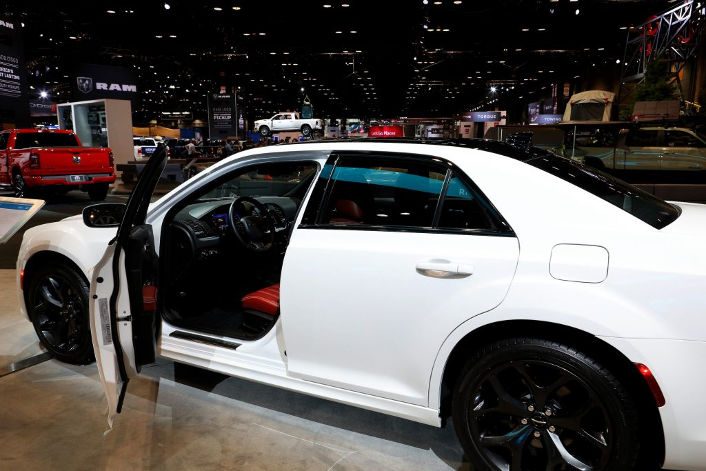White 2020 Chrysler 300 S is on display at the 112th Annual Chicago Auto Show