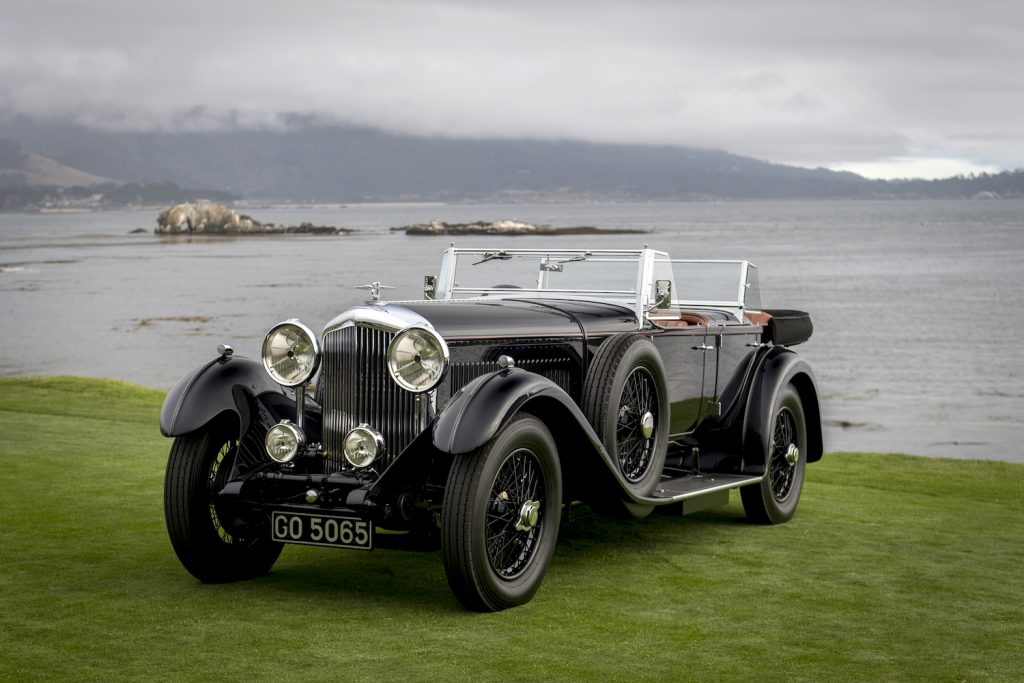 A 1931 Bentley 8 litre Gurney Nutting Sport Tourer, winner of the Best of Show award, owned by Billionaire Michael Kadoorie, chairman of Hong Kong And Shanghai Hotels Ltd., stands on the 18th fairway at the 2019 Pebble Beach Concours d'Elegance in Pebble Beach, California, U.S., on Sunday, Aug. 18, 2019.