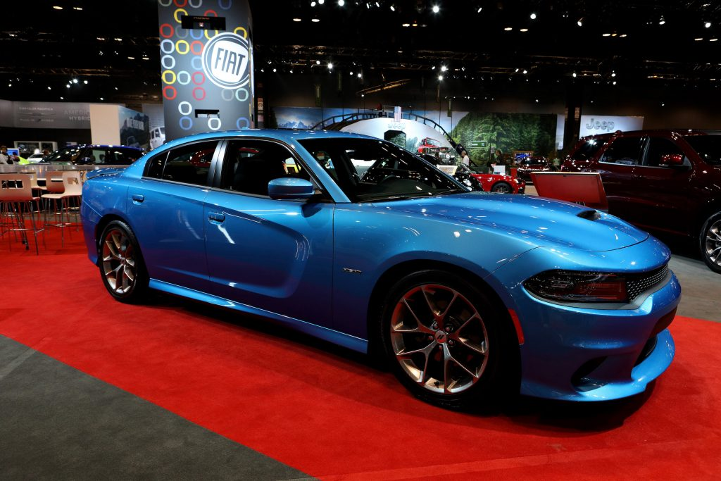 2019 Dodge Charger RT is on display at the 111th Annual Chicago Auto Show at McCormick Place