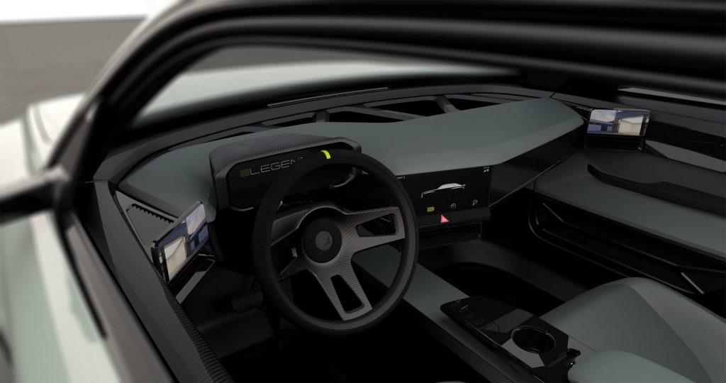 E-Legend EL1 Audi Sport Quattro-like sedan interior