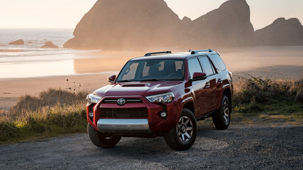 A red 2021 Toyota 4Runner