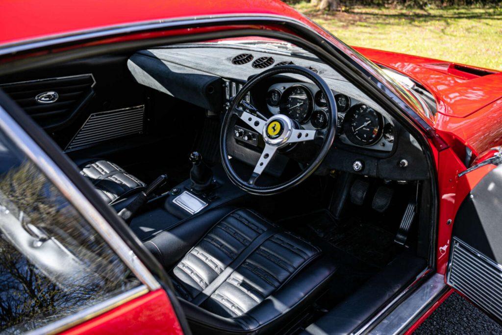 Interior of a 1972 Ferrari 365 GTB/4